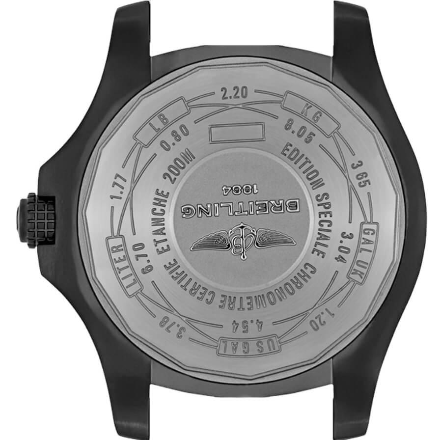 Đánh giá đồng hồ Breitling Avenger Blackbird V17311AT / BD74 - Caseback