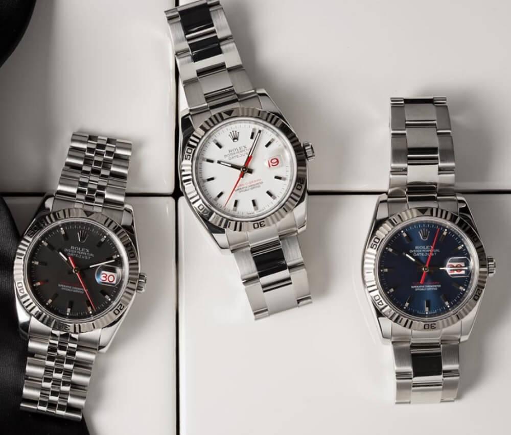 Đồng hồ Rolex Turn-O-Graph - Mặt số