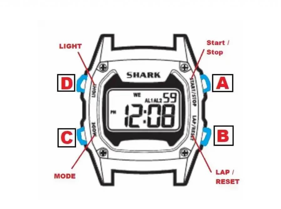 Hướng dẫn cách chỉnh thời gian trên đồng hồ điện tử Shark
