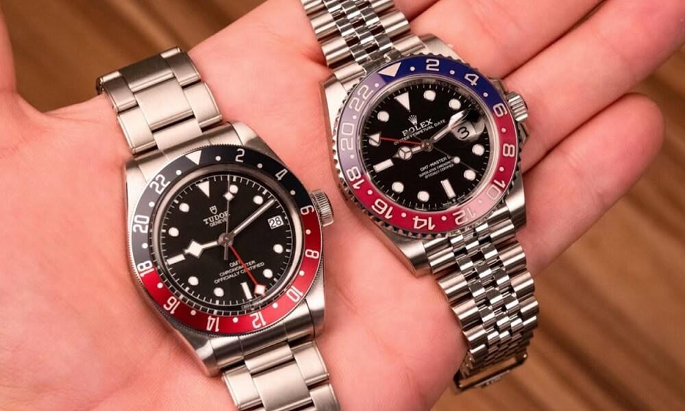 So sánh đồng hồ Rolex Pepsi GMT với Tudor Pepsi GMT
