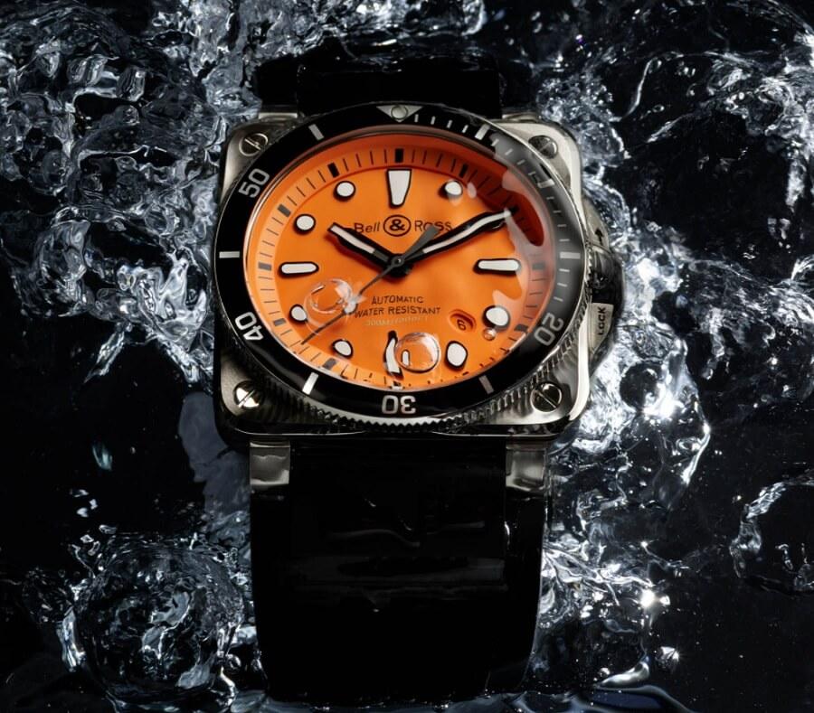 Đồng hồ Bell & Ross 03-92 Diver Orange Ref. BR0392-D-O-ST/SRB