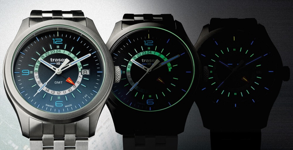 Đồng hồ Tritium Traser P59 Aurora GMT Blue 107036