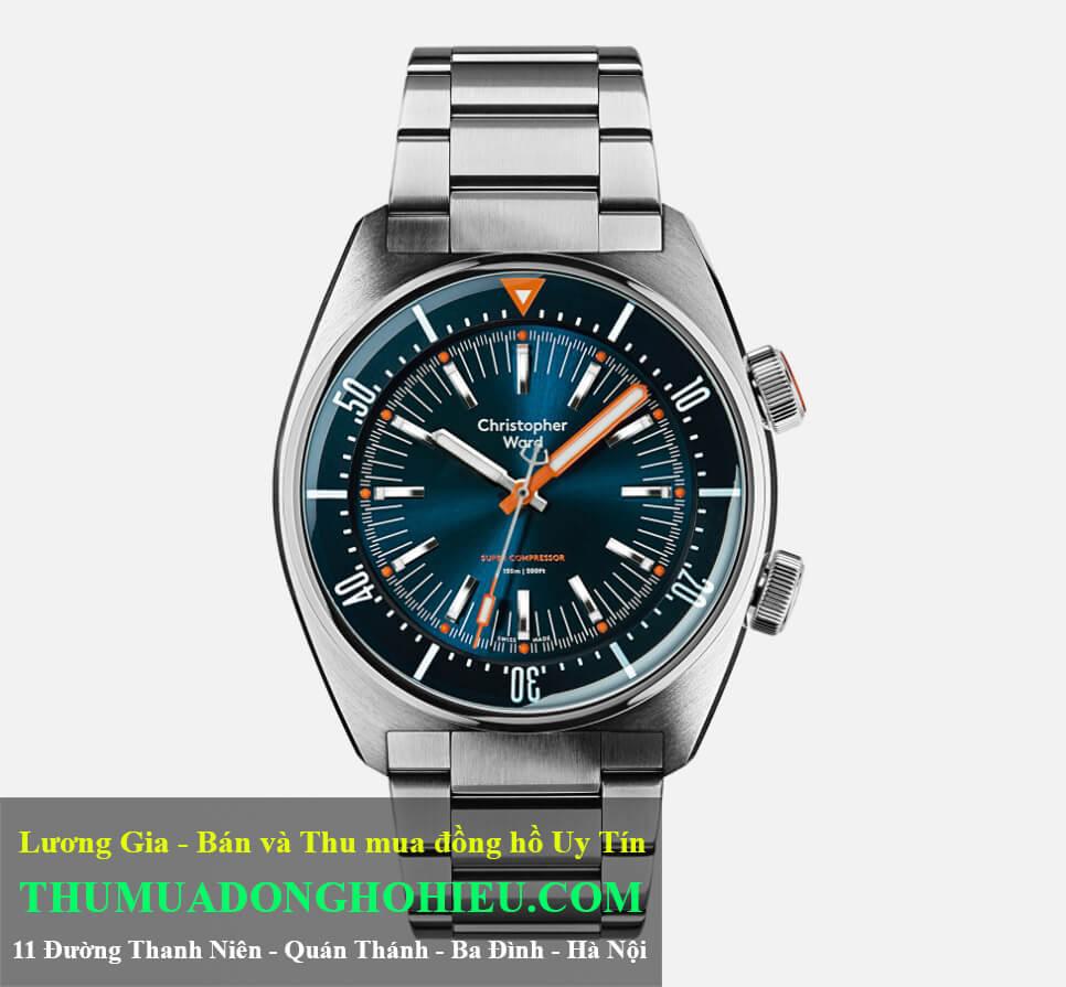 Đồng hồ Christopher Ward Retro Dive C65 Super Compressor Deep Blue