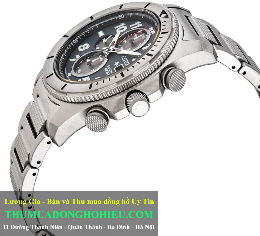 Vương Miện và nút bấm đồng hồ Citizen Promaster Tough Ref. CA0720-54H