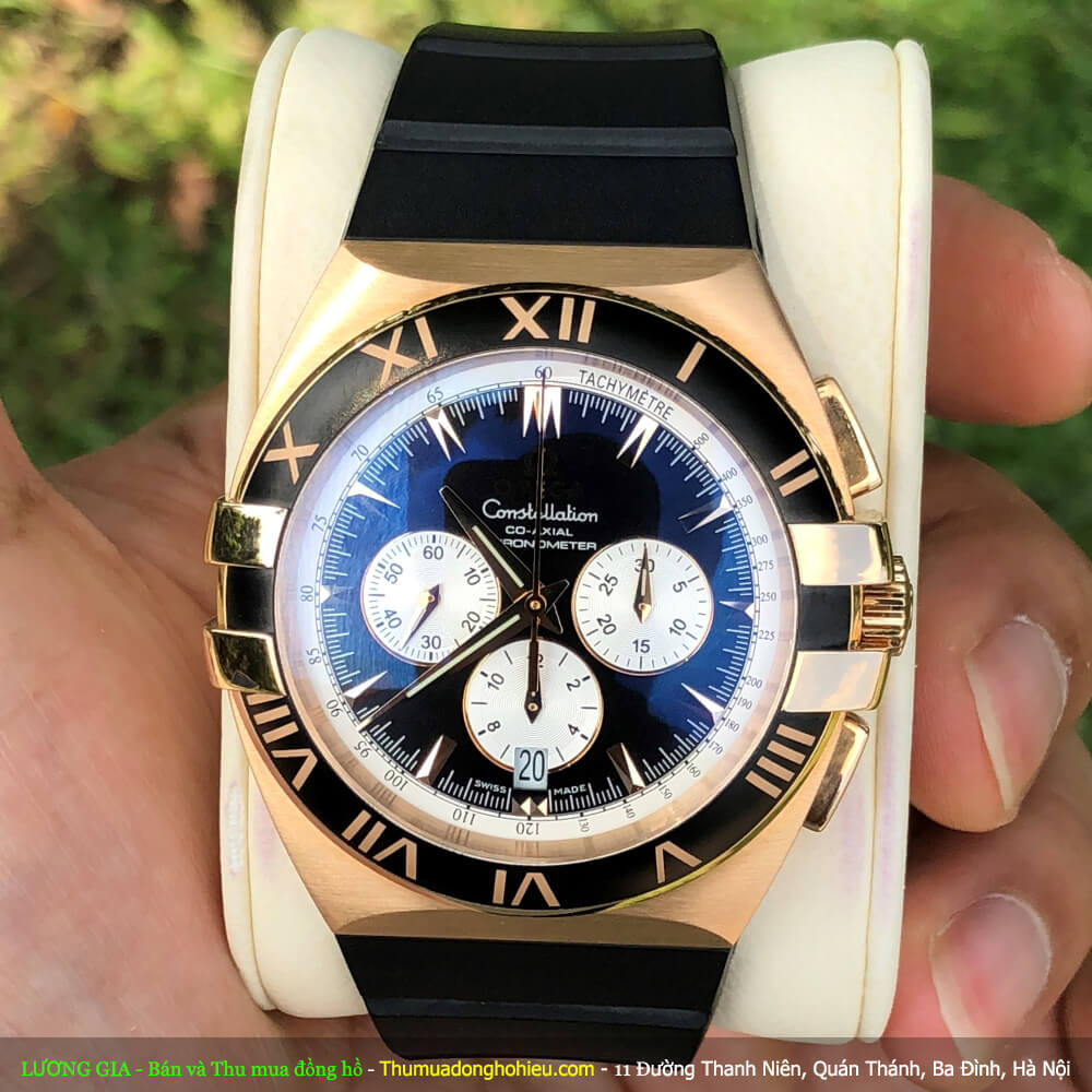 Omega Constellation Double Eagle Chrono 1619.51.91 Red Gold